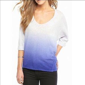 Free People dip dye ombre long sleeve top